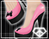 [KISA]Pink&BlkBowHeels