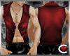 *SC-Leather OPN Vest Red