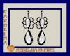 (CR) White-Blk Earrings
