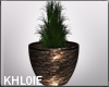 brown stone pot plant K