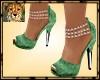 PdT Green Velvet Heels