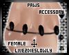.L. Black Baby Paws