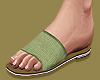 Sage Green Flat Sandals