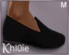 K black loafer shoes M