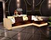 brown n cream sofa
