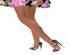 Lovely Floral Heels