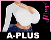 A-PLUS Bimbo Top White