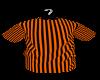 orange stripe tee couple