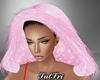 Pure Pink Fur Hood
