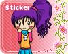 *Ej* Draw Doll Sticker *