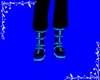 black & Blue Boots