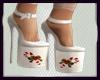 Xmas White Heels