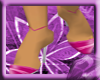 ^VL pink stripe pumps