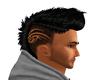 black Mohawk hair