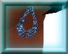 blue star loop earrings