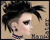 Punky Black mohawk