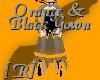 Orange & Black Bat Gown