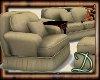 [D] Comfy Cream Sofa Set