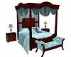 Royal blue bed