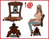 !@ Antique piano stool