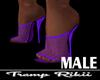 [Rr] Purple Net Heels