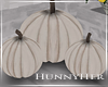 H. white Pumpkin Decor