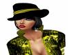 (MC) Yellow Cabaret Hat