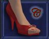 Scarlet Spike Heels