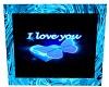 Ice Blue Rose-I LOVE YOU