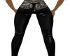 Black Biker Leather pant