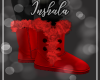*In* Red Fur Boots