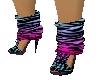 PD}Heels/multi striped