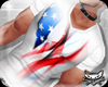 ! USA Flag White top