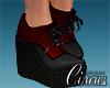 C` Red Heel Boots
