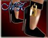 ~MK~Golden Padlock Heels