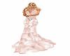vestido longo rosa abs