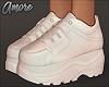 $ White Platform Sneaker