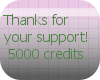 Cres 5,000 Support