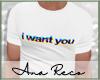 """AT-shirt """"I Want You"""""""