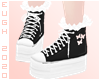 E - Black Sneakers