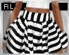 女 Striped Pleated