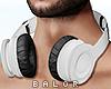 ♛ Headphones White.