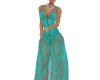 ELEGANT LACE GREEN GOWN