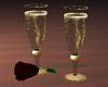 Champaignglasses w/Rose