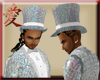 Silvery White Tophat