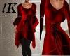!K! VN21 Red Scarf  Set