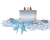 Blue Holiday Candle