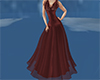 Long Dark red dress gown
