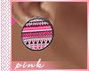 PINK-Aztec Pink Earrings