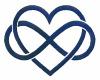 DMT Infinity Heart blue
